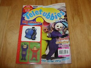 Vintage 1990s TELETUBBIES MAGAZINE inc FREE STICKERS - ISSUE 5