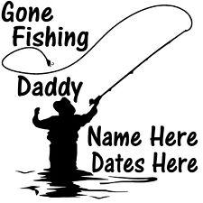 In Loving Memory Vinyl Decal Sticker Car Truck Home Window Custom Fishing Daddy