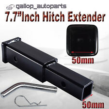 """7.7"""" Inch Hitch Extender Extension  Tow Bar Adapter Trailer 4WD Car 2"""" Receiver"""