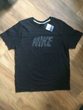 WOMEN`S NEW NIKE SPORTS TRAINING GYM BLACK T-SHIRT SIZE LADIES SMALL CASUAL TOP