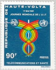 UPPER VOLTA OBERVOLTA 1981 830 566 13th World Telecommunication Day ITU UIT MNH