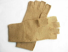 100 Cashmere Fingerless Gloves Wrist Warmer Unisex Camel