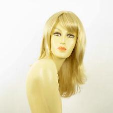 Perruque femme mi-longue blond doré méché blond très clair  LILI ROSE 24BT613