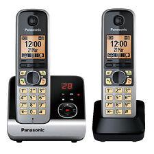 Panasonic KX-TG6722GB duo schwarz Schnurlostelefon 1,8 Zoll Display Anrufbeantwo