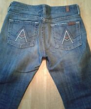 """7 For All Mankind """"A"""" Pocket Boot Cut Distressed Women's Jeans Size 24 X 26"""