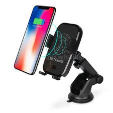 Qi Wireless Fast Charger Car Mount Automatic Infrared Sensor Charging Pad M6E0