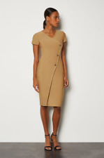 Karen Millen - Cap Sleeve Military Button Knit Dress - New With Tag - Size - 16