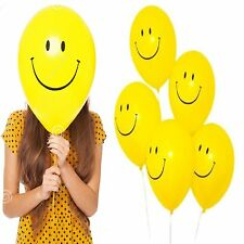 """18x Happy Smiley 12"""" Face Ballons Parties Emoji Party Decoration Occasions Birth"""
