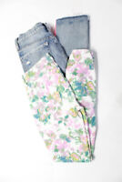 Blank NYC  Womens Striped Skinny Jeans White Blue Size 27 LOT 2
