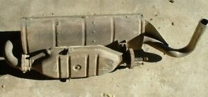 Fiat X1/9 used exhaust system as shown muffler # 4347434