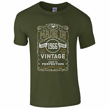 Made in 1966 T-Shirt Born 51st Year Birthday Age Present Vintage Funny Mens Gift