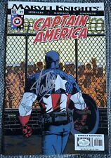 Stan Lee original autógrafo en Capitán América comic, Autograph, signed, coa