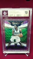 2014 Select Courtside Andrew Wiggins Purple & White Silver Prizm RC BGS 10