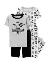 NWT Girls Long Sleeve Two Piece Skulls /& Hearts Pajama Set Size X-Small 4//5
