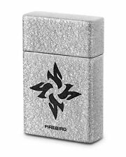Firebird by Colibri UJF667A4 Fury Single Torch Cigar Lighter Silver Logo