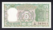 India 5 Rupees  1969-70  AU  P. 68,  Banknote, Uncirculated