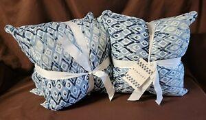 "2 - 2Pk Sakari Blues Indoor/Outdoor 18"" Filled Square Throw Pillows"