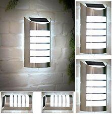 Solar Power LED Wall Light Stainless Steel Garden Outdoor Patio White Light 106