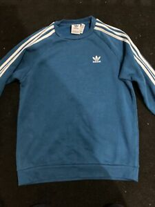 Adidas Sweatshirt Men's - Small - Blue