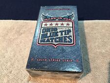 New 250 WOOD OHIO BLUE TIP MATCHES STRIKE ON BOX KITCHEN CAMPING GRILL USA