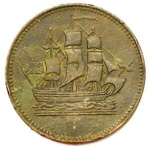 PEI (1835) Canada Ships Colonies Colonial Token PE10-30 #1197