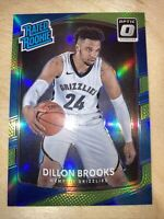 Dillon Brooks 2017-18 Optic Lime Holo Prizm Rated Rookie #25/175 RC SP GRIZZLIES