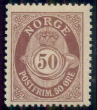 Norway #94 (120) 50ore claret, og, Nh, Xf, Facit $165.00