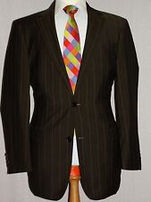 MEN'S HUGO BOSS BERTOLUCCI/MOVIE PINSTRIPE DESIGNER SUIT UK 40R, W34,XL32