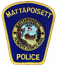 MATTAPOISETT MASSACHUSETTS MA Police Patch INDIAN NATIVE AMERICAN BOW ARROW ~