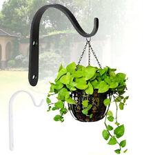 More details for garden hanging wall brackets outdoor basket plant pot hanger hook decor~