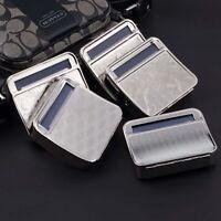 Metal Automatic Cigarette Tobacco Roller Roll Rolling Machine Box Case Tin SU