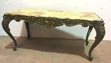 Table basse de style Louis XV Table de salon en bronze et onyx Table d'appoint
