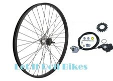 "BLACK BICYCLE REAR WHEEL 26"" X 1.75 SHIMANO INTERNAL 3-SPEED CABLE SHIFTER"
