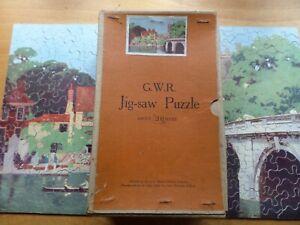 VINTAGE CHAD VALLEY G.W.R WOODEN JIGSAW PUZZLE - Henley Bridge