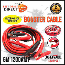 1200AMP 6M Car Jumper Lead Protected Jump 6M Heavy Duty Booster Cable Truck 4WD