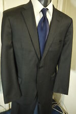 HUGO BOSS SIZE 42R DARK GRAY 2 BUTTON SUIT W/DUAL VENTS