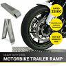 Alta Calidad 1.8M Plegable Acero Moto/ Bicicleta/ Moto/ MX Carga Rampa