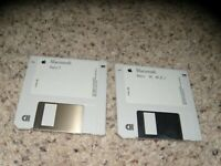 "2 Macintosh Basic Disks on 3.5"" disks"