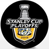 Nashville Predators NHL 2018 Stanley Cup Playoffs Lock-Up Souvenir Hockey Puck