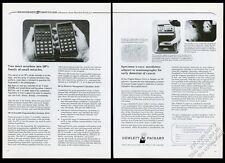 1975 HP-25 HP-22 calculator photo Hewlett-Packard vintage print ad