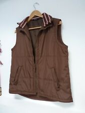 """Ladies Lovely Papaya Brown Hip Length Zip Gilet Bodywarmer Size M, Pit 21"""" GC"""