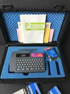 Brother P-Touch PT-15 Electronic Label Maker Labeling System Case Cartridges LN!
