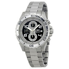Invicta Signature II Silver-tone and Black Dial Stainless Steel Mens Watch 7390