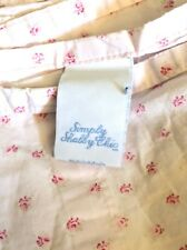 Simply Shabby Chic Twin sheet Pink Rosebuds French country Rachel Ashwell Flat