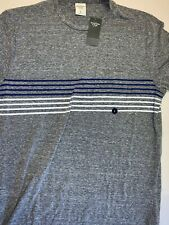 New Abercrombie And Firch Mens Grey Striped T Shirt Size L