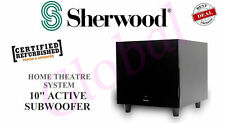 "Sherwood 10"" SW10 Amplified Active Sub Subwoofer Home Theatre Powered *RFB*"