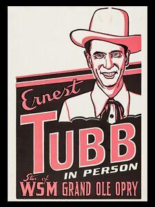 "Ernest Tubb 16"" x 12"" Reproduction Promo Poster Photo"