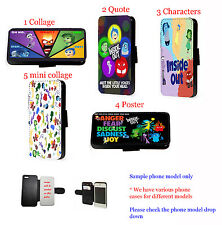 Disney Inspired Inside Out leather wallet phone case for iPhone Samsung HTC