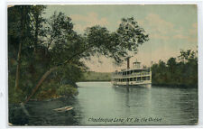Steamer In The Outlet Chautauqua Lake New York 1910c postcard