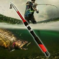 Strong Carbon Fiber Telescopic Fishing Rod Reel Sea Ultra-light Spinning Pole